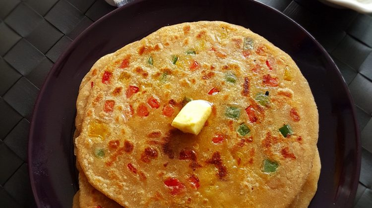 Capsicum Cheese Paratha | How to make Capsicum Cheese paratha | Paratha Recipes