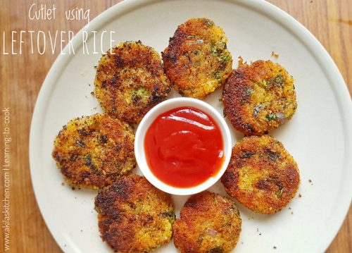 Cutlet using Leftover Rice | Cutlet Recipes