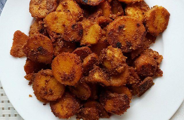 Seppankizhangu fry | Cheppankizhangu varuval | Arbi Fry