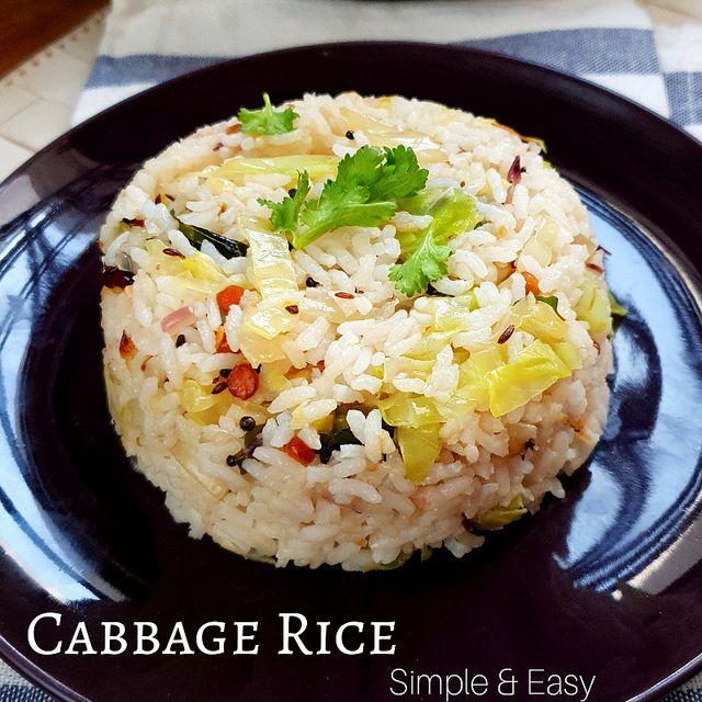 Cabbage Rice Muttaikos Sadham
