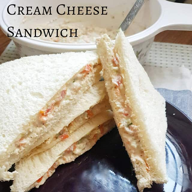 Cream Cheese sandwich indian style