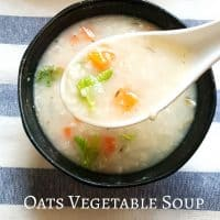 Oats soup Oats Vegetable soup