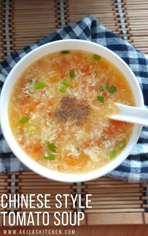 Chinese Style tomato soup with egg