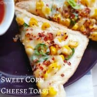 Sweet corn cheese Toast