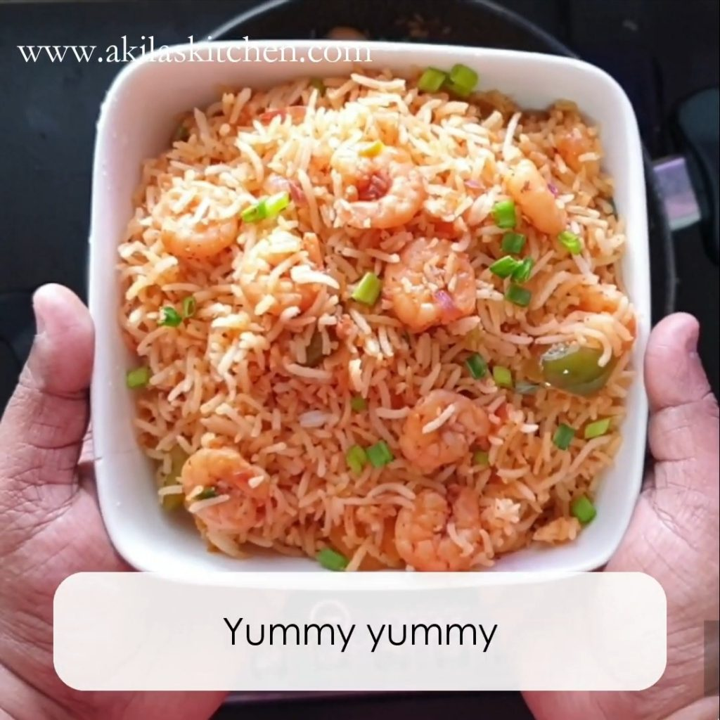 Spicy prawn fried rice