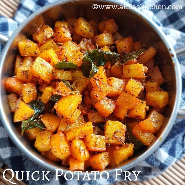 Quick potato fry