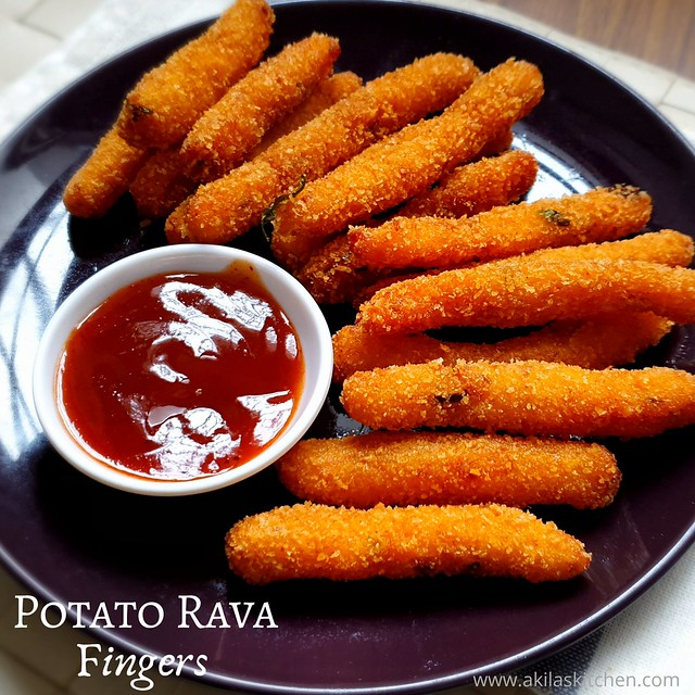 Potato rava fingers