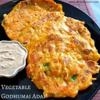 Vegetable godhumai dosa