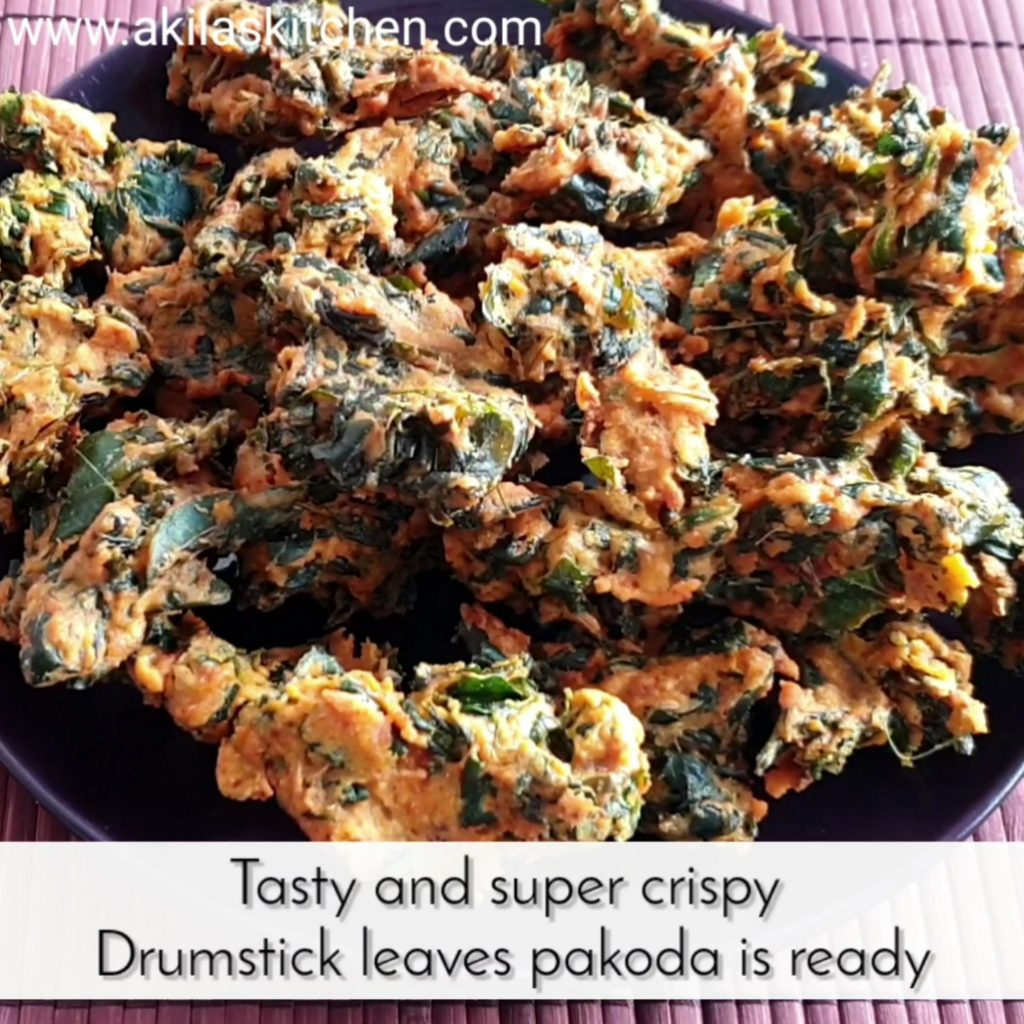 Drumstick leaves pakoda Moringa leaves pakoda