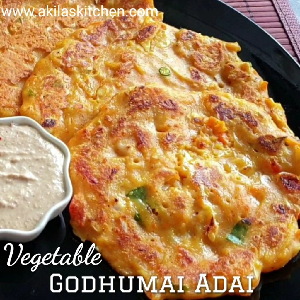 Vegetable Godhumai Adai